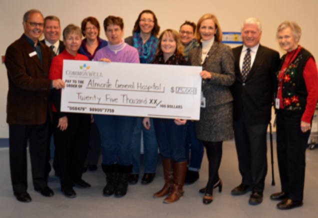 The Commonwell Donates $25K to Almonte General Hospital Local Insurer Gives Back with C.A.R.E Program