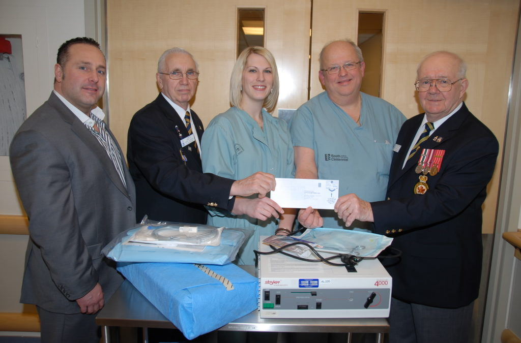 Royal Canadian Legion grant purchases cystoscope for AGH