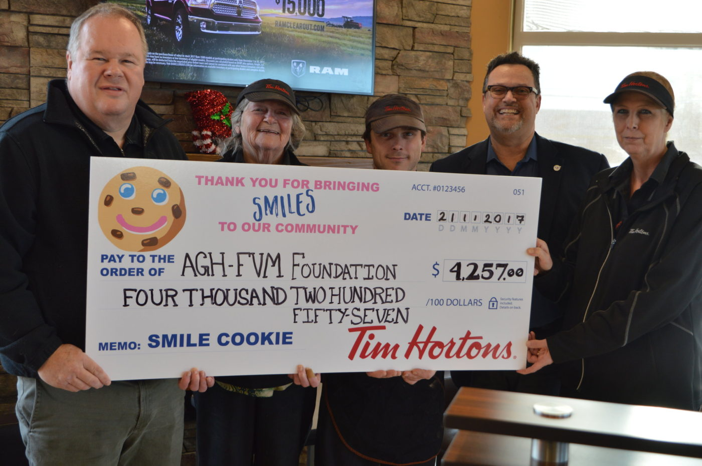 Tim Horton Smiles Cookie Day AGH