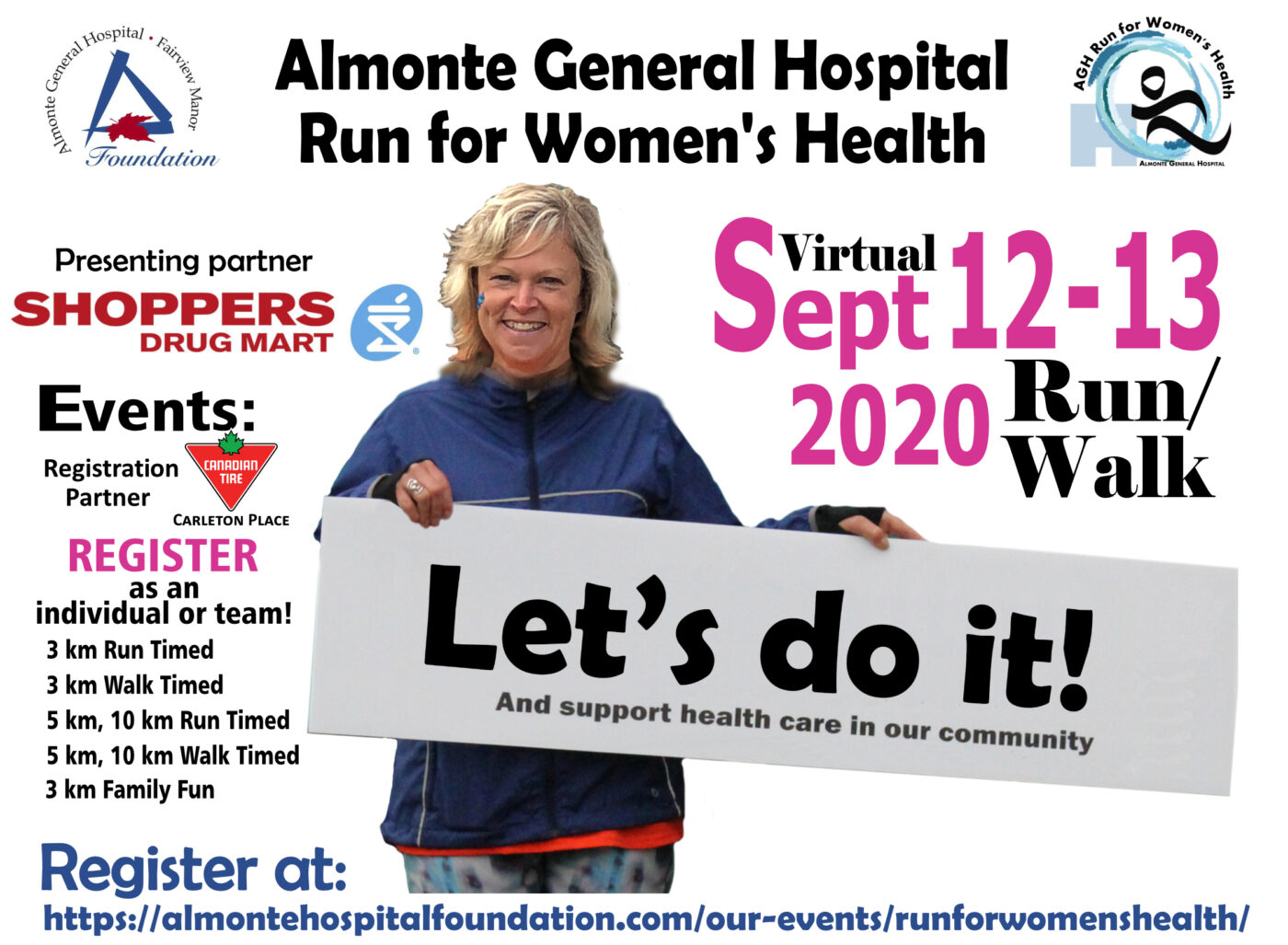 The Run/Walk for Women's Health at the AGH Goes Virtual