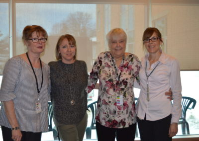 in photo: Julie Rice, Tammy Lowry, Pat Kennedy and Sheila LaFebvre