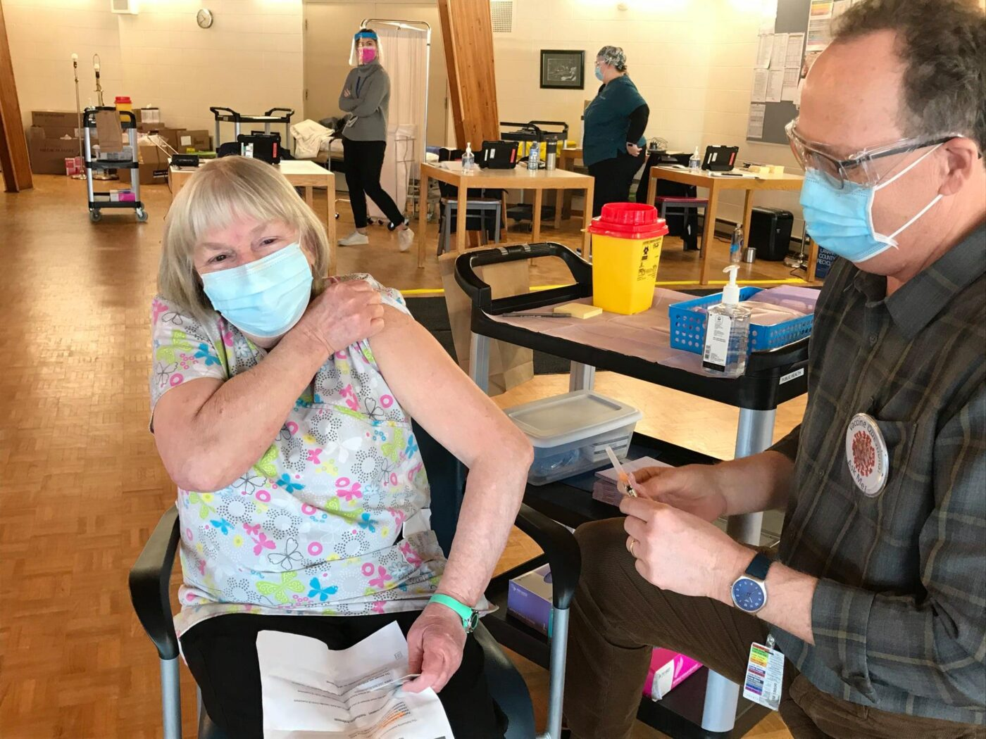 FRONT LINE WORKERS BEGIN TO RECEIVE COVID-19 VACCINE