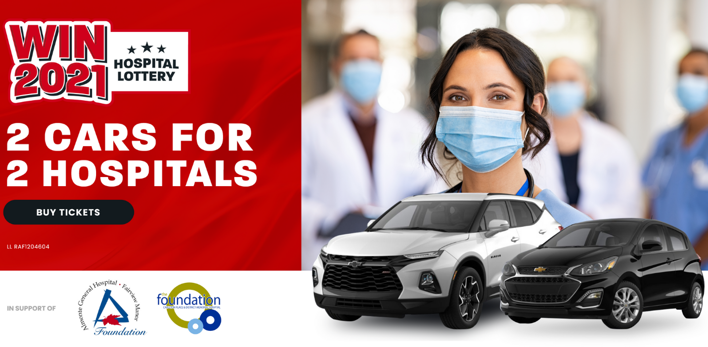 Two cars to be won in support of two hospitals
